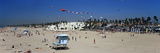 Tourists on the Beach, Huntington Beach, Orange County, California, USA Photographic Print by  Panoramic Images