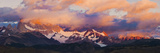 Clouds over Mountains at Sunrise, Monte Fitz Roy, Argentine Glaciers National Park, Patagonia, A... Photographic Print by  Panoramic Images