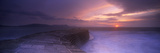 Sea at Dawn, the Cobb, Lyme Regis, Dorset, England Photographic Print by  Panoramic Images
