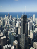 Aerial View of a City, Lake Michigan, Chicago, Cook County, Illinois, USA Photographic Print by  Green Light Collection
