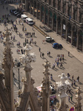 View of Town Square from Cathedral Roof, Milan Cathedral, Piazza Del Duomo, Milan, Lombardy, Italy Photographic Print by Green Light Collection