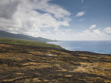 Lava Field at the Coast, Piton De La Fournaise, Le Grand Brule, Reunion Island Photographic Print by Green Light Collection