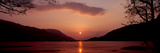 Sunset over a Lake, Loch Leven, Ballachulish, Lochaber, Highlands Region, Scotland Photographic Print by  Panoramic Images