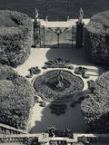 High Angle View of a Fountain in a Garden, Villa Carlotta, Tremezzo, Lake Como, Lakes Region, Lo... Photographic Print by  Green Light Collection