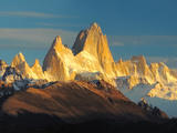 Low Angle View of Mountains, Mt Fitzroy, Argentine Glaciers National Park, Argentina Photographic Print