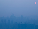Foggy City View from Yikeshu Viewing Platform at Dusk, Chongqing, Yangtze River, Chongqing Provi... Photographic Print