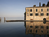 Reflection of Building in a Lake, Punta San Vigilio, Lake Garda, Garda, Lake District, Verona, V... Photographic Print by Green Light Collection