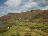 Agricultural Fields and Erhai Hu Lake with Mountains in the Background, Shuanglang, Erhai Hu Lak... Photographic Print