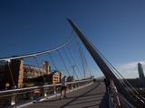 Man Running on a Bridge, Harbor Drive Pedestrian Bridge, San Diego, California, USA Photographic Print