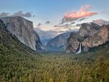 Clouds over a Valley, Yosemite Valley, Yosemite National Park, California, USA Photographic Print