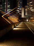 Convention Center with Buildings Lit Up at Night, Canada Place, Vancouver, British Columbia, Canada Photographic Print