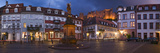 Castle in Town Square at Dusk, Kornmarkt, Baden-Wurttemberg, Germany Photographic Print by  Panoramic Images