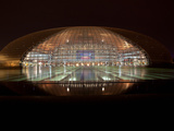 National Centre for the Performing Arts Lit Up at Night, Beijing, China Photographic Print