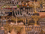 Menorahs for Sale at a Market Stall, Jerusalem, Israel Photographic Print