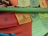 Close-Up of Prayer Flags on Mani Stones, Yushu Tibetan Autonomous Prefecture, Tibet, China Photographic Print