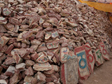 Heap of Mani Stones, Yushu Tibetan Autonomous Prefecture, Tibet, China Photographic Print