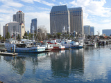 Fishing Boats Docked at a Marina, San Diego, California, USA Photographic Print by  Panoramic Images