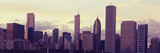 Buildings in a City at Dusk, Chicago, Illinois, USA Photographic Print by  Panoramic Images