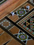 Backgammon Board with Dice, Jerusalem, Israel Photographic Print
