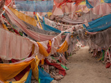 Prayer Flags on Mani Stones, Yushu Tibetan Autonomous Prefecture, Tibet, China Photographic Print