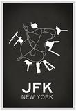 JFK New York Airport Plakaty