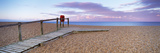 Boardwalk on the Beach at Dawn, Chesil Beach, Jurassic Coast, Dorset, England Photographic Print by  Panoramic Images