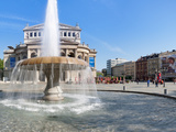 Lucae Fountain in Front of Alte Oper, Frankfurt, Hesse, Germany Photographic Print by  Panoramic Images
