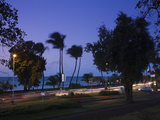 Traffic on a Highway at Dusk, Le Barachois, St. Denis, Reunion Island Photographic Print by Green Light Collection