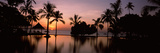 Sunset over Hotel Pool, Lombok, West Nusa Tenggara, Indonesia Photographic Print by  Panoramic Images
