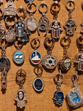 Medallions at a Market Stall, Jerusalem, Israel Photographic Print