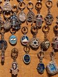 Medallions at a Market Stall, Jerusalem, Israel Photographic Print