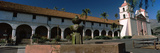 Fountain at a Church, Mission Santa Barbara, Santa Barbara, California, USA Photographic Print by  Panoramic Images