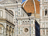 Architectural Detail of a Cathedral, Duomo Santa Maria Del Fiore, Florence, Tuscany, Italy Photographic Print