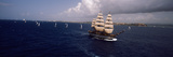 Tall Ship in the Sea, Puerto Rico Photographic Print by  Panoramic Images