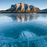 Ice and Bubbles in a Lake, Abraham Lake, Alberta, Canada Photographic Print
