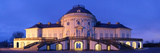 Castle Solitude Lit Up at Night, Stuttgart, Baden-Wurttemberg, Germany Photographic Print by  Panoramic Images