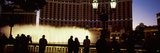 Tourists Looking at a Fountain, Las Vegas, Clark County, Nevada, USA Photographic Print by  Panoramic Images