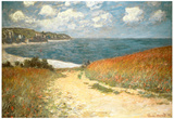 Path Through the Corn at Pourville Affischer av Claude Monet