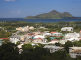 Cityscape Viewed from Beau Vallon Road, Victoria, Mahe Island, Seychelles Photographic Print by  Green Light Collection