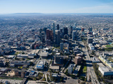 Aerial View of Downtown Los Angeles, Los Angeles, California, USA Photographic Print