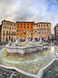 Fountain Outside Coliseum, Rome, Lazio, Italy Photographic Print