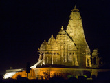 Temple in a Town, Khajuraho, Chhatarpur District, Madhya Pradesh, India Photographic Print