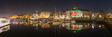 Buildings Lit Up at Night, Inner Harbour, Victoria, British Columbia, Canada Photographic Print by  Panoramic Images