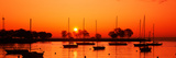 Silhouette of Boats in a Lake, Lake Michigan, Great Lakes, Michigan, USA Photographic Print by  Panoramic Images