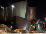 Concert Hall Lit Up at Night, Walt Disney Concert Hall, Los Angeles, California, USA Photographic Print