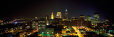 Aerial View of a City Lit Up at Night, Cleveland, Ohio, USA Photographic Print by  Panoramic Images