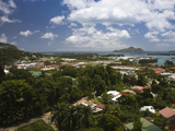 Cityscape Viewed from Liberation Road, Victoria, Mahe Island, Seychelles Photographic Print by  Green Light Collection