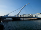 The Samuel Beckett Bridge, Designed by Caltrava, and the River Liffey, Dublin City, Ireland Photographic Print