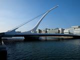The Samuel Beckett Bridge, Designed by Caltrava, and the River Liffey, Dublin City, Ireland Photographic Print