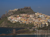Town on a Hill, Castelsardo, Sassari, Sardinia, Italy Photographic Print by Green Light Collection